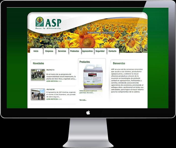 Diseño web para ASP Argentina